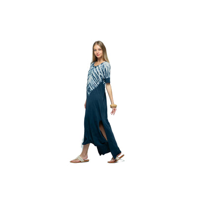 Blue B Tiedye Long Dress - Navy