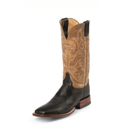 Justin Pascoe Smooth Ostrich Men's Boot