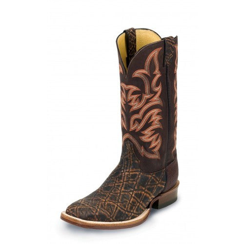 Justin Cognac Safari Elephant Men's Western Boot