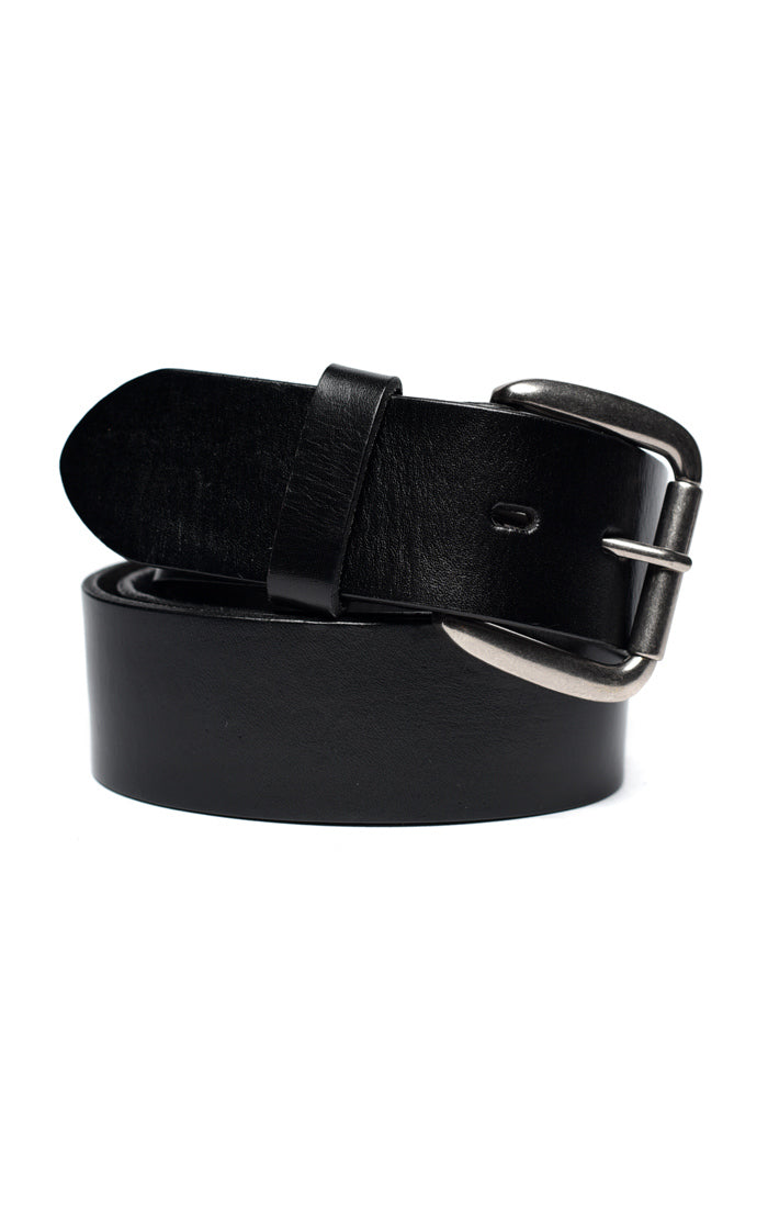 Bed Stu Black Rustic Drifter Classic Leather Women's Belt