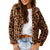 One and Only Collective Women's Leopard Faux Fur Coat - Brown