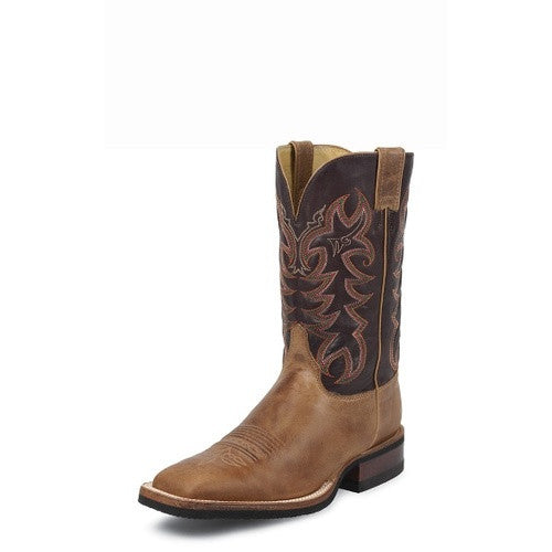 Justin Cowhide AQHA Tan Men's Boot