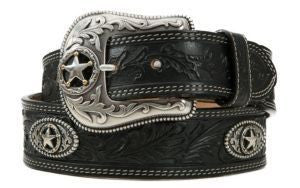 Justin Black 5 Star Men's Ranch Western Belt