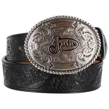 Justin Floral Trophy Men's Leather Belt
