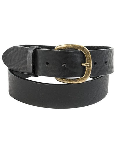 Justin Black Leather Belt