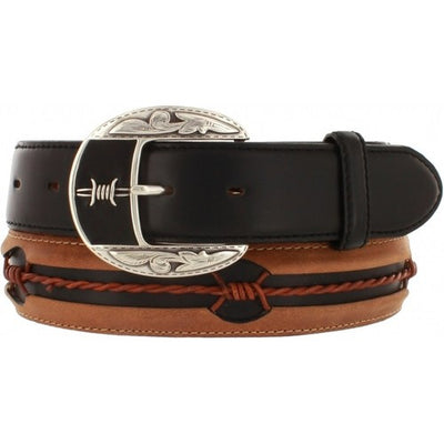 Justin Fenced In Cognac Men's Belt - Lazy J Ranch Wear