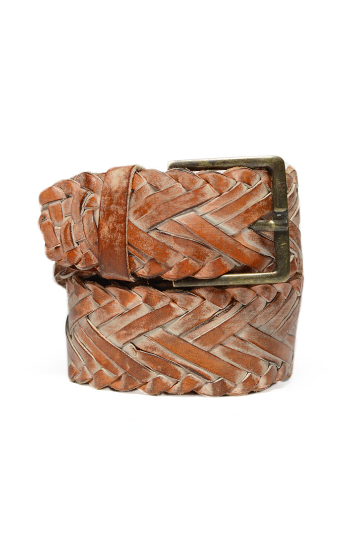 Ben Stu Woven Tan Rustic Women's Belt