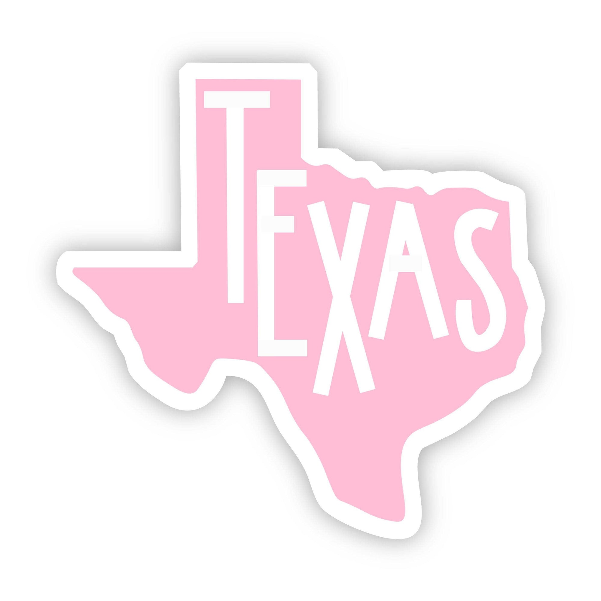 Big Moods - Texas Pink Sticker
