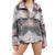 Blue B Women's Soft Comfy Lightweight Azteck Pattern Jacket - Grey Pink Mix
