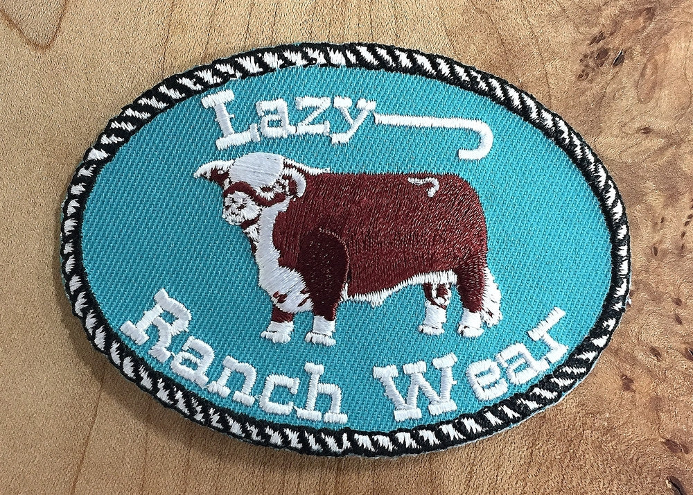 Original Lazy J Ranch Wear Hereford Patch
