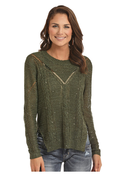 Women's Sparkle Sweater By Rock N Roll
