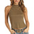 Rock & Roll Cowgirl Women's High Neck Sleeveless Tank - Olive