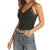 Rock & Roll Cowgirl Women's Lace Trimmed Camisole - Black