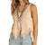 Rock & Roll Cowgirl Women's Frayed Hem Knitted Tank - Blush
