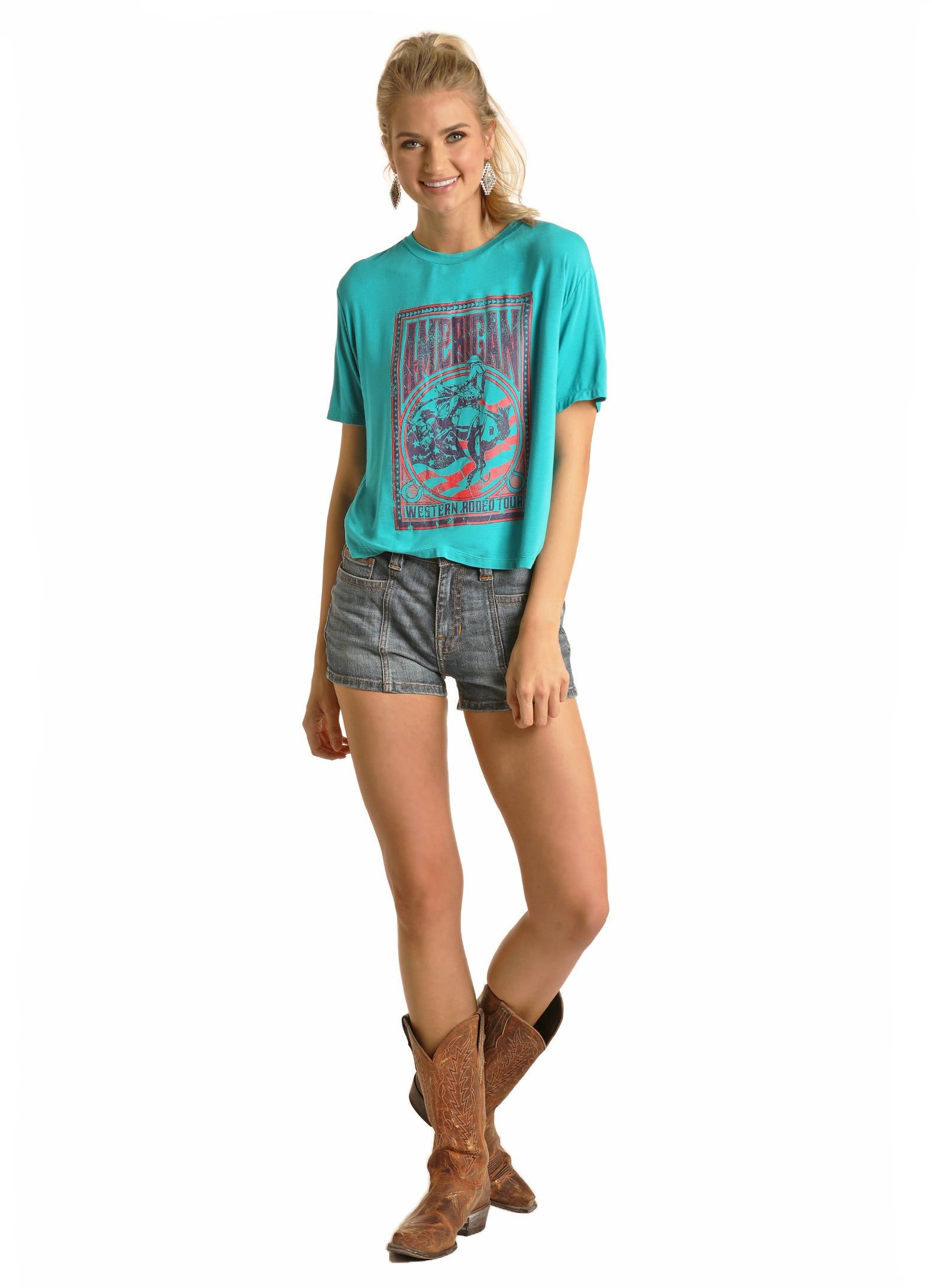 Rock & Roll Cowgirl American Rodeo Tee