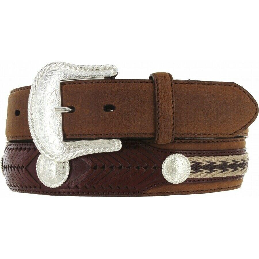 Tony Lama Men's Duke Center Applique Belt
