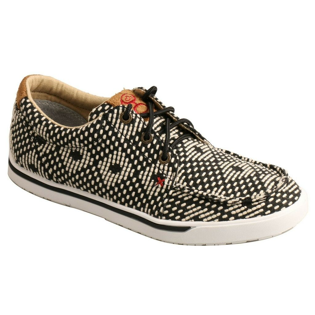 Twisted X Women's Hooey Lopers Black and White Tweed