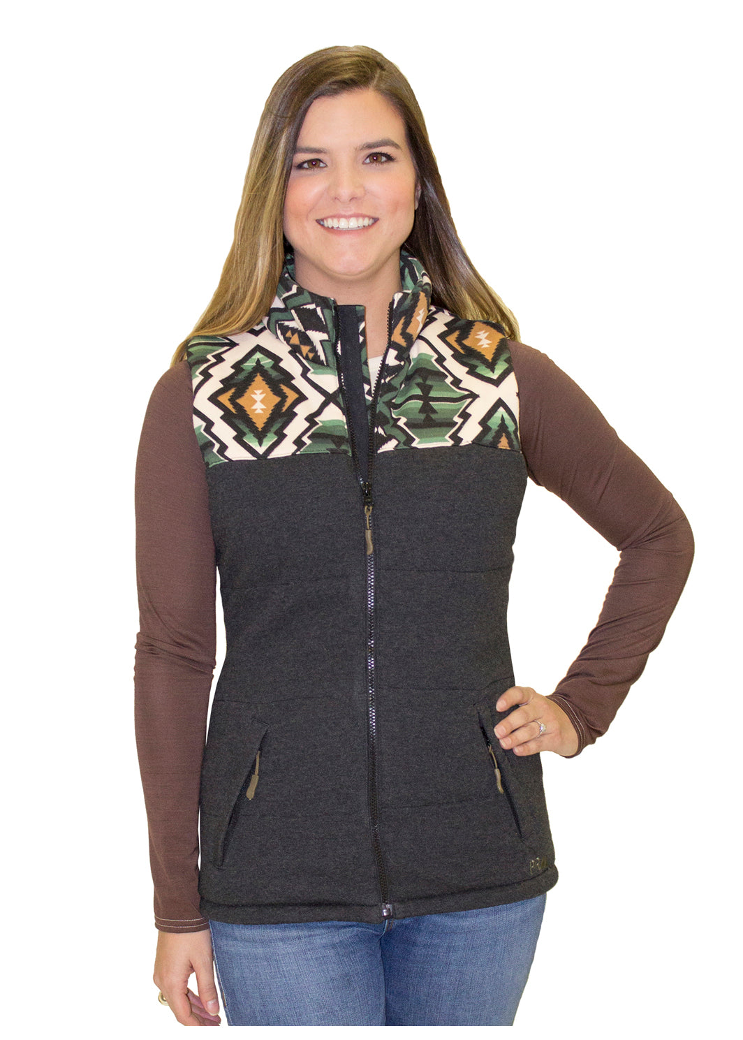 Powder River Outfitter Ladies Soft and Cozy Aztec Vest