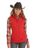 Powder River Outfitter Ladies Red Softshell Vest