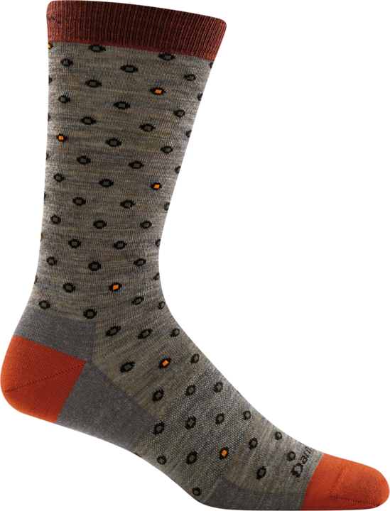 Darn Tough Men's Fish Eye Brown Crew Light Sock
