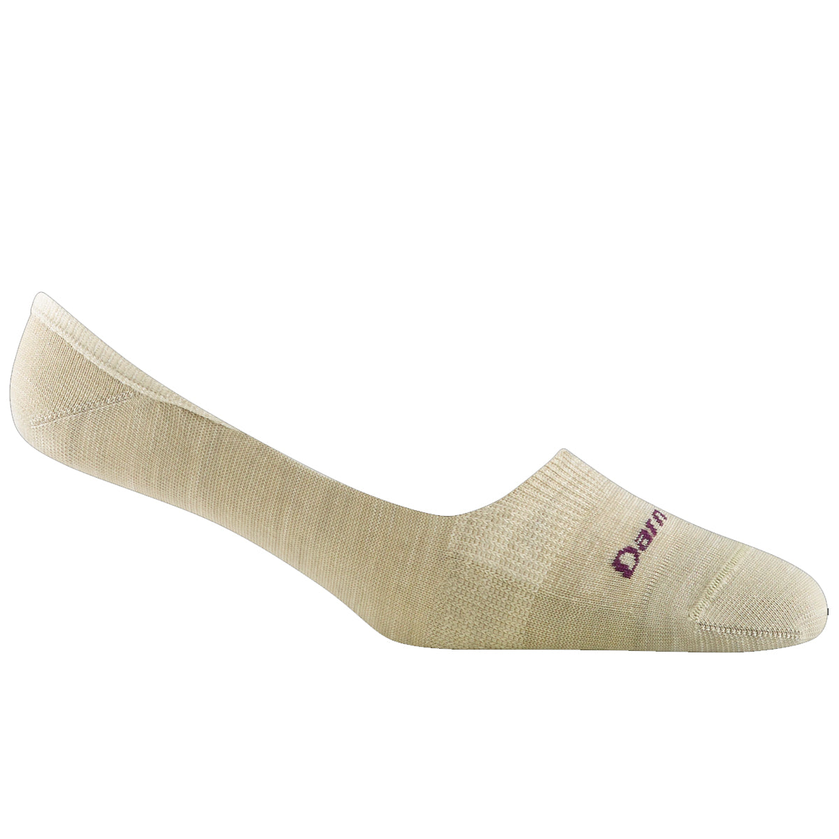 Darn Tough Women's Top Down Solid No Show Invisible Lightweight Lifestyle Socks - Oatmeal