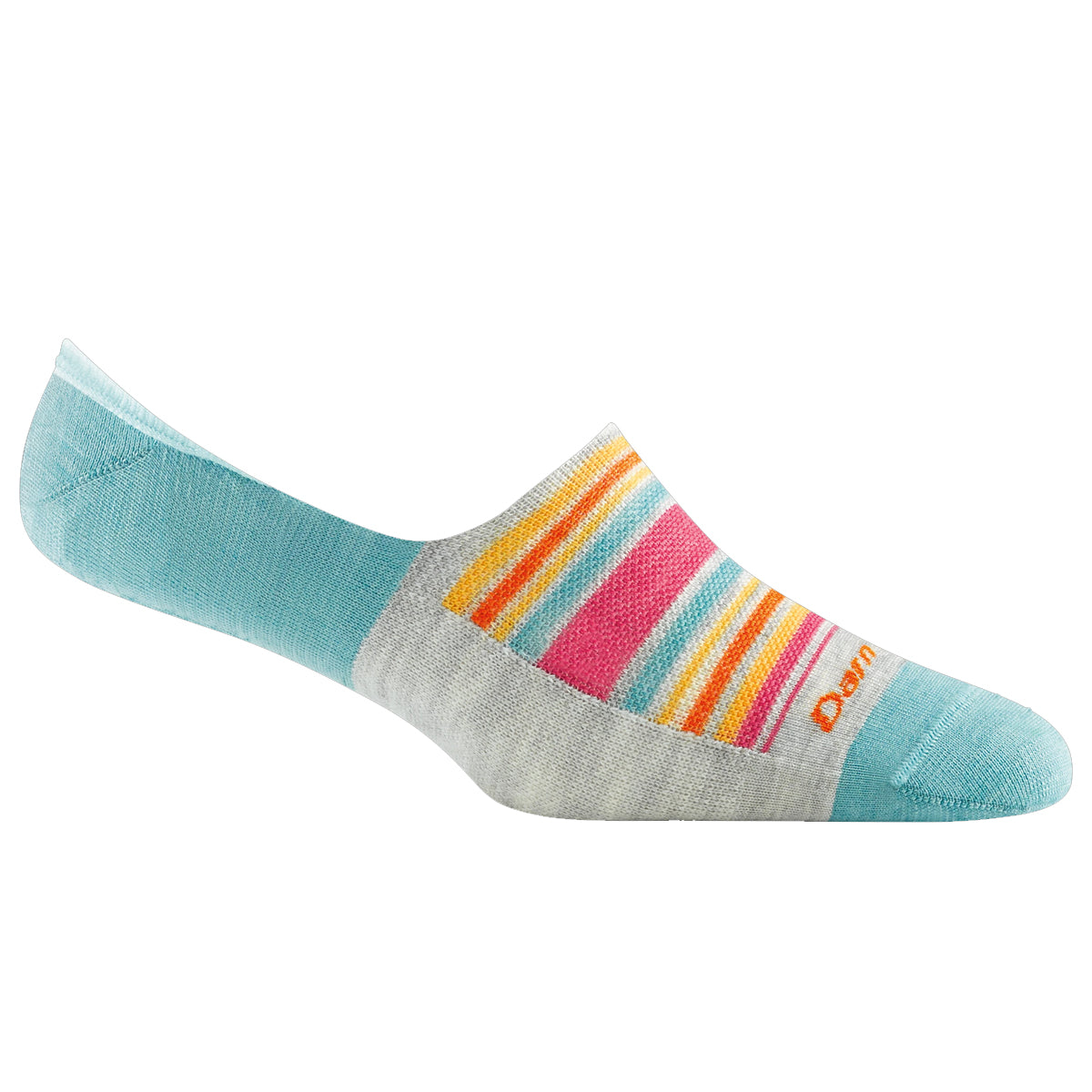 Darn Tough Women's Topless Sunbaked No Show Hidden Lightweight Lifestyle Socks - Aqua