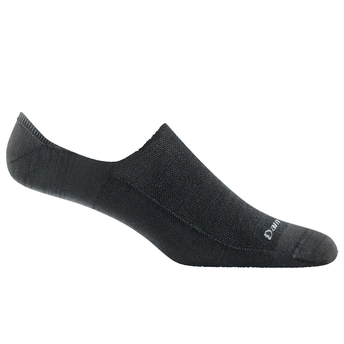 Darn Tough Men's Topless Solid No Show Hidden Lightweight Lifestyle Sock - Black