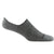 Darn Tough Men's Topless Solid No Show Hidden Lightweight Lifestyle Sock - Charcoal Grey