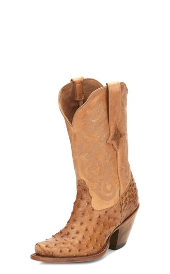 Tony Lama Mindy Saddle Sycamore Mont Blanc Women's Boot