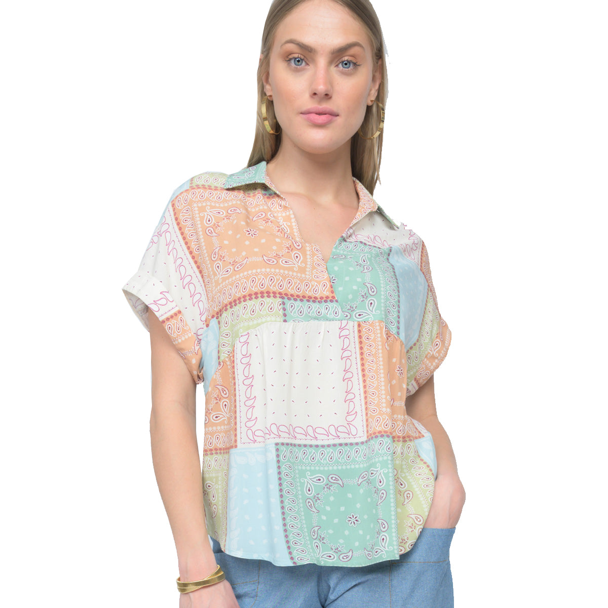 Ivy Jane Women's Patch Me Up Top - Pastel