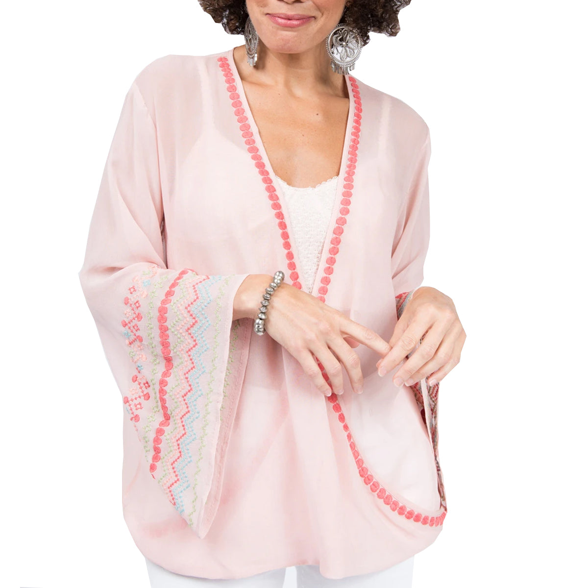 Ivy Jane Women's Wrapped in Embroidery Top - Blush