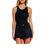Olivaceous Women's Ribbed Tank Top - Black