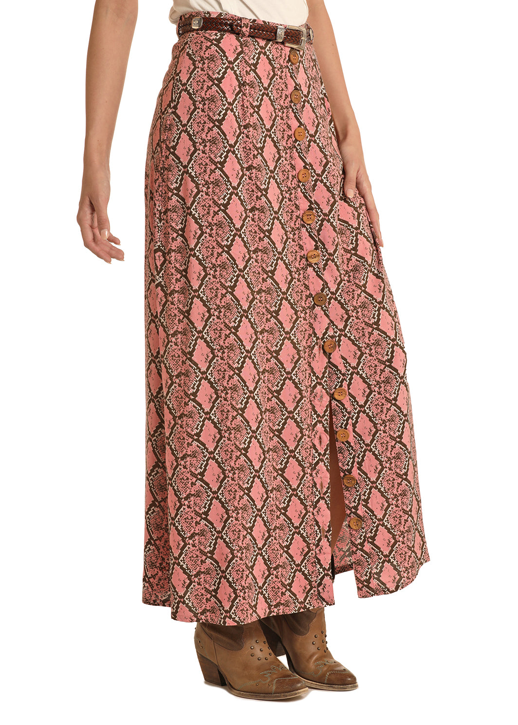 Panhandle Women's Snakeskin Maxi Skirt