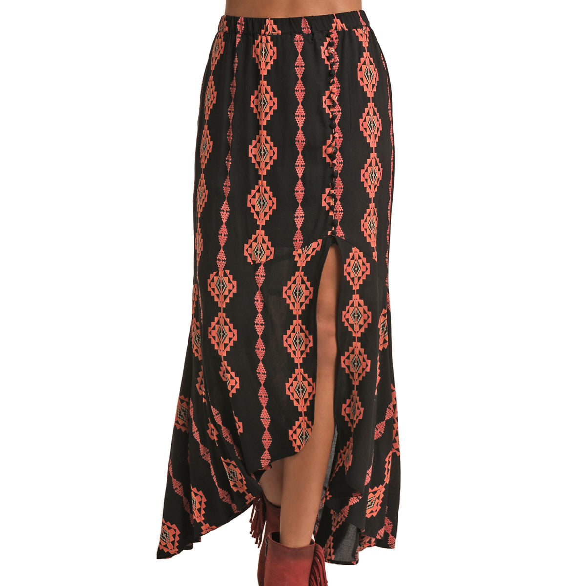 Panhandle Juniors High Low Maxi Skirt - Copper