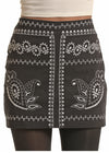 Black Embroidered Skirt