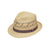 M & F Western Men's Twister Vented Raffia Straw Ribbon Hat - Natural Medium