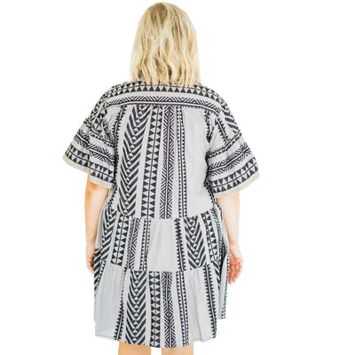 Ivy Jane Aztec Flutter Tiered Dress