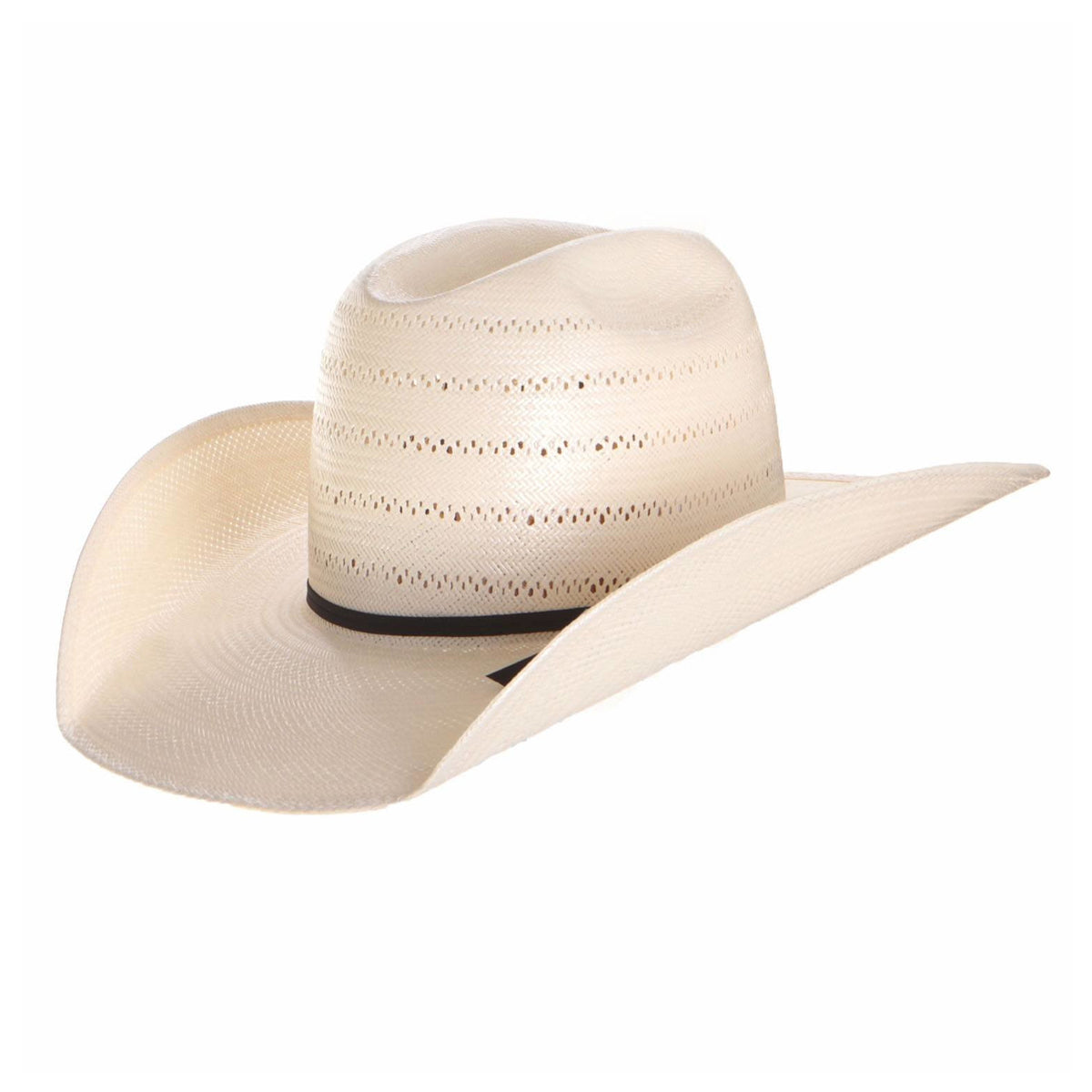 "4 1/4"" brim Black Straw by American Hat"