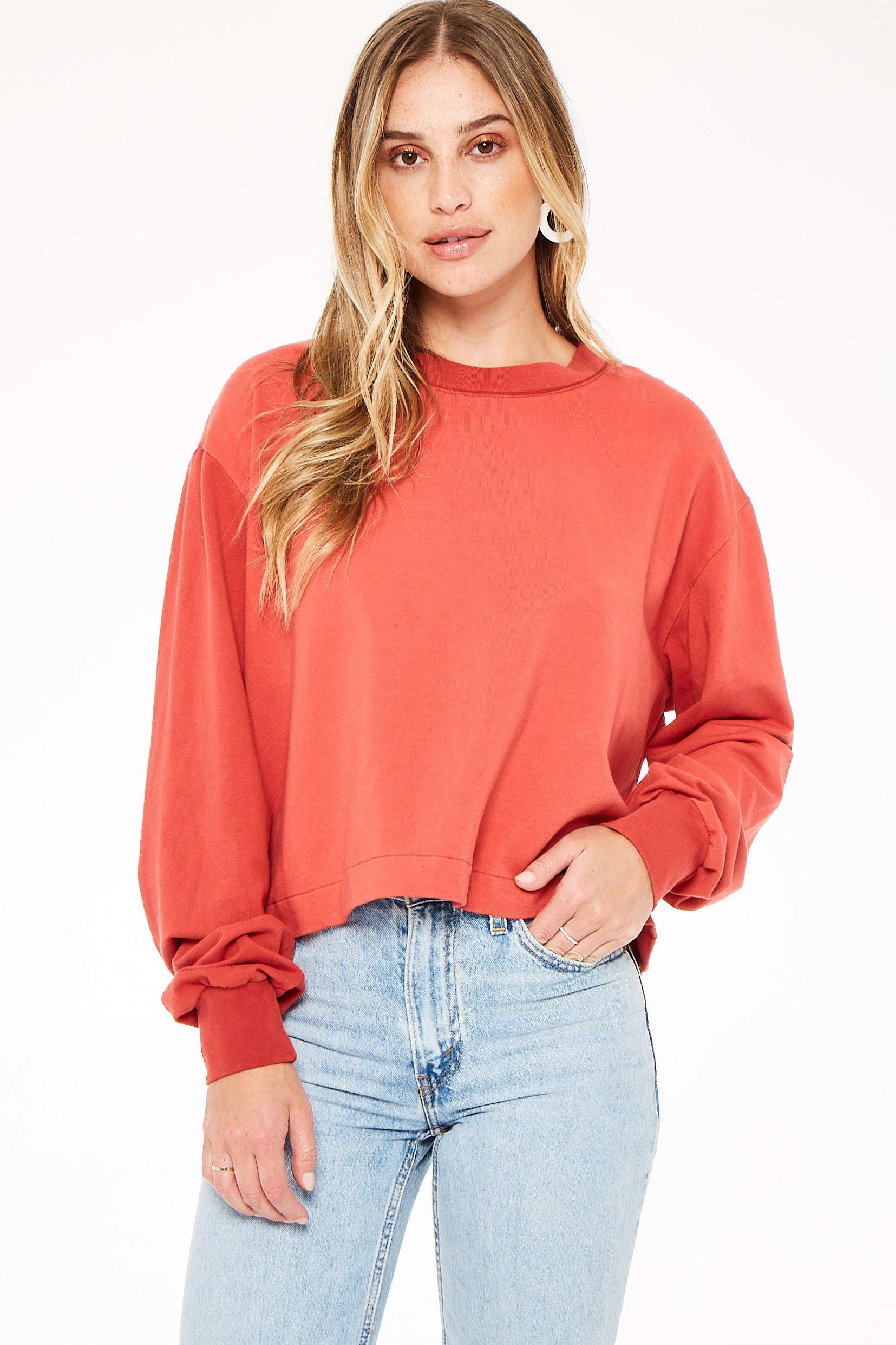 You Say Boxy Cropped Sweatshirt