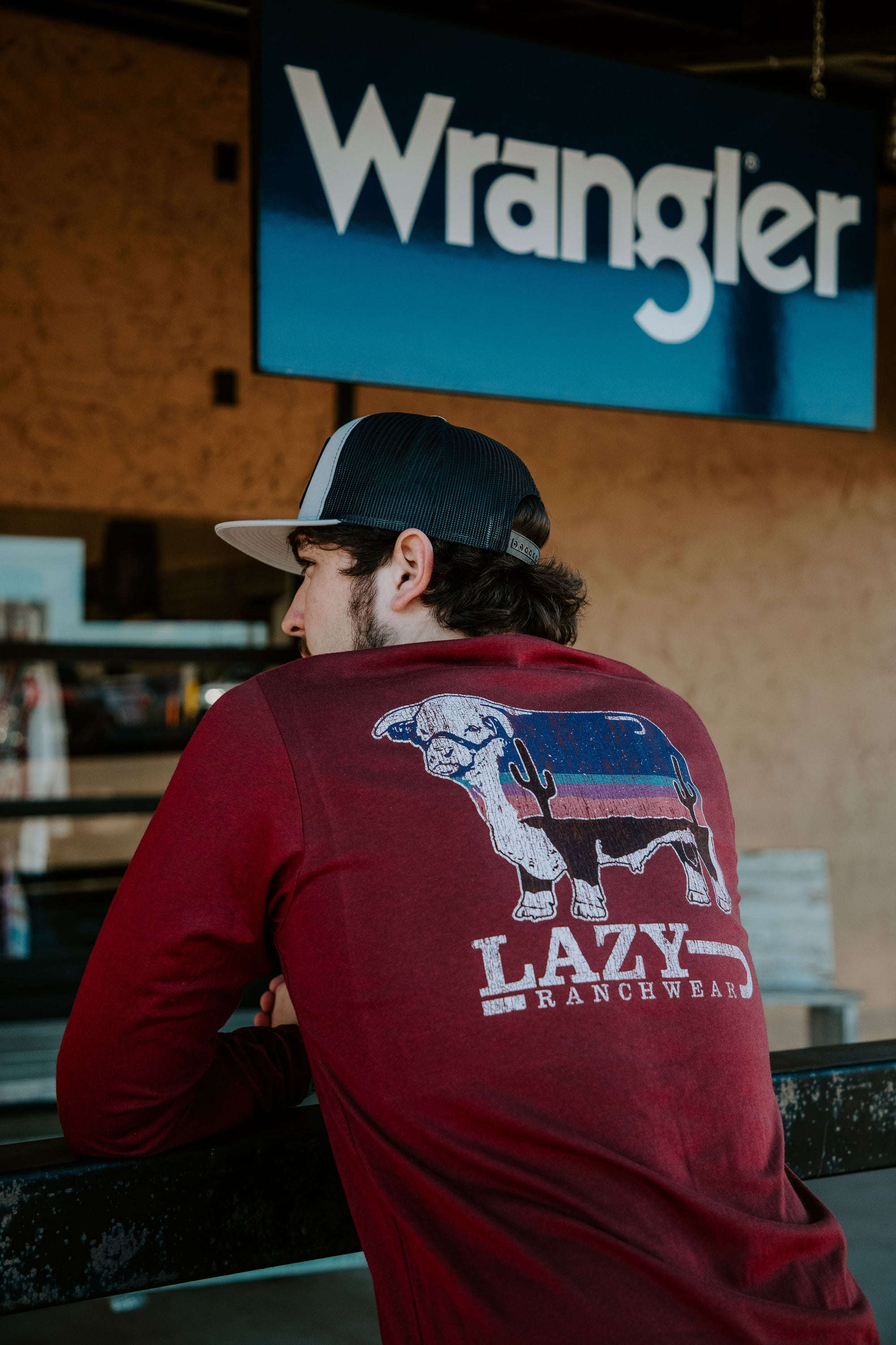 Lazy J Ranch Wear Cardinal Dusk Long Sleeve T-Shirt