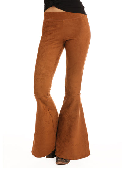 Cowgirl Tuff Brown Velvet Bell Bottom Women's Pant