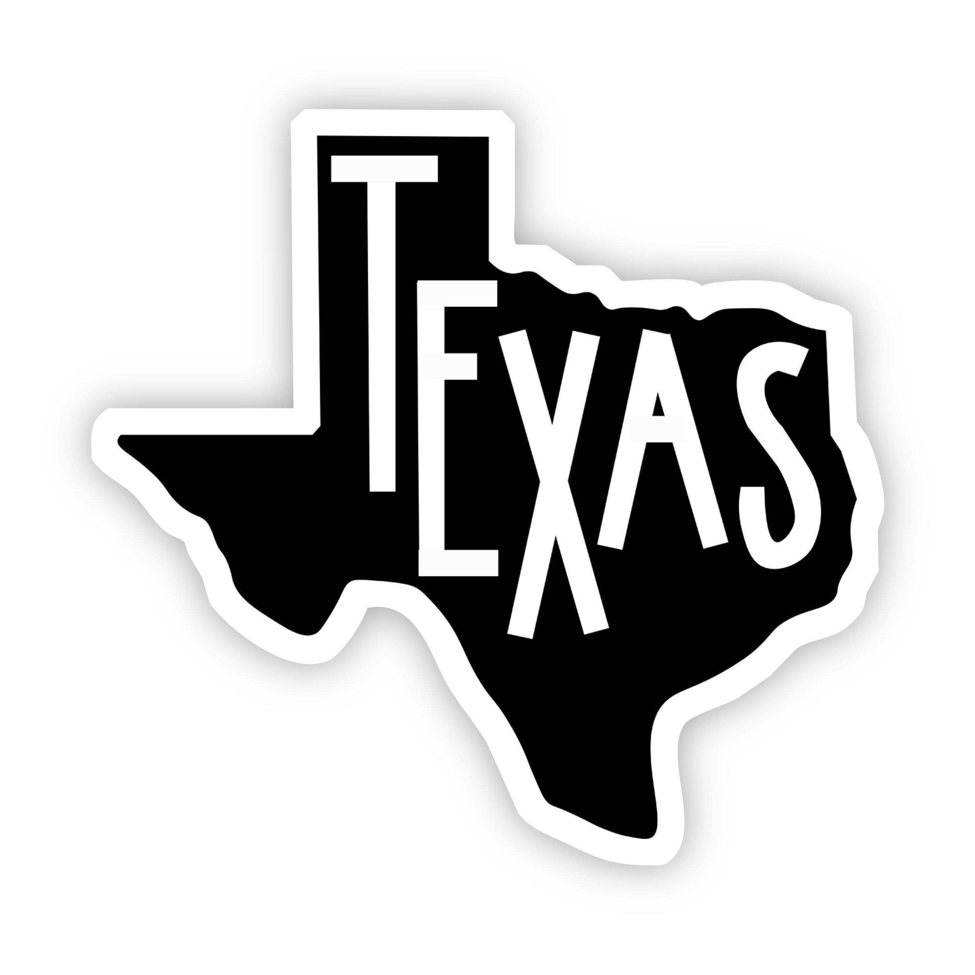 Big Moods - Texas Sticker (Black and White)