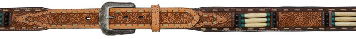 "3D 1 1/2"" Brown Men's Western Fashion Belt"