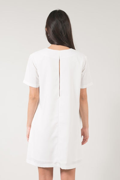 Space 46 White Shift Women's Dress