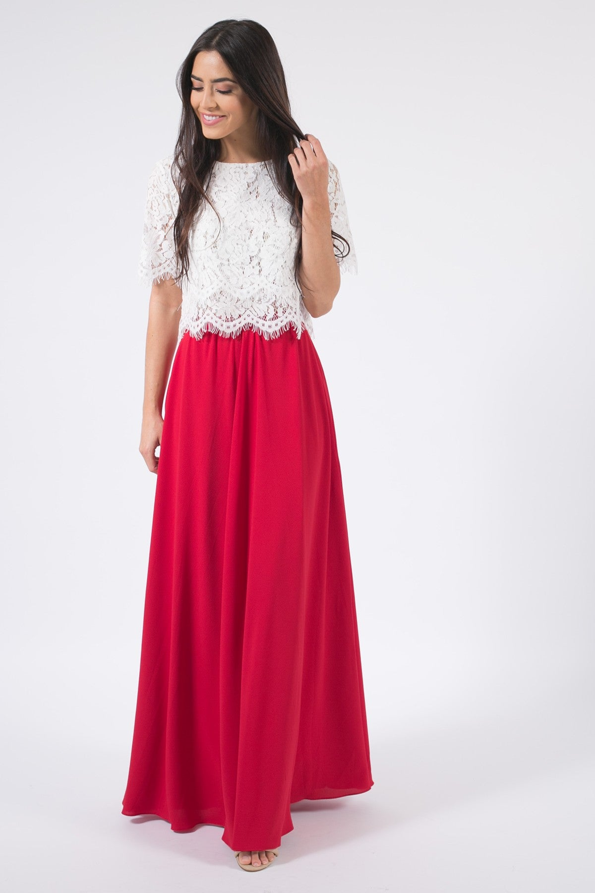 Space 46 Red Women's Maxi Dress