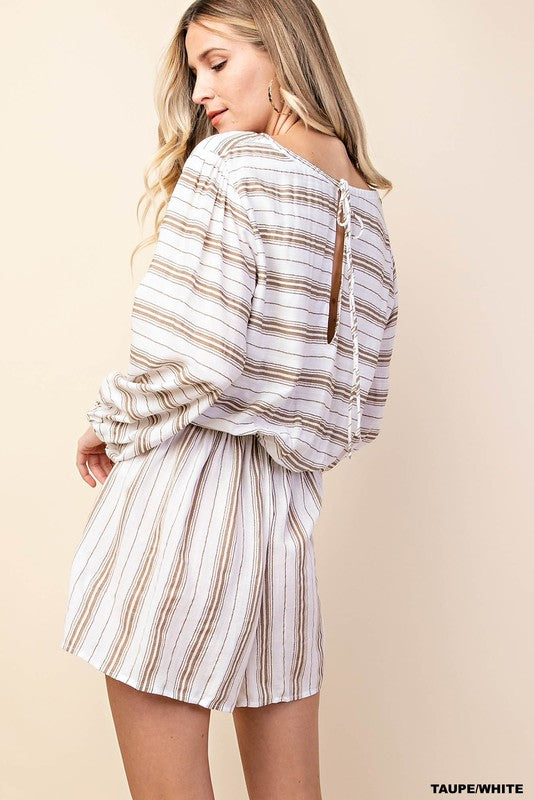 Southern Belle Striped Romper