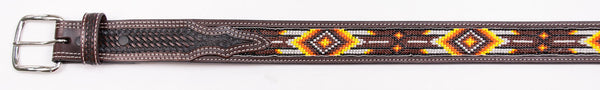 Southwestern Hand Beaded Kid's Belt
