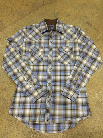 Plaid Pearl Snap Button Down by Wrangler 20X