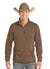 Panhandle Brown Quarter Zip Men's Jacket