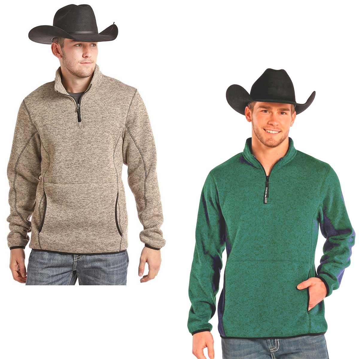 Powder River Outfitters Men's Fleece Quarter Zip Pullover